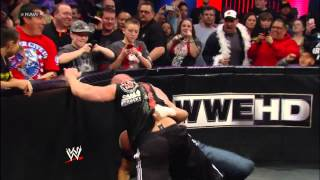 Triple H and Brock Lesnar get involved in a fight between Mr. McMahon and Paul Heyman: Raw, Feb. 25,