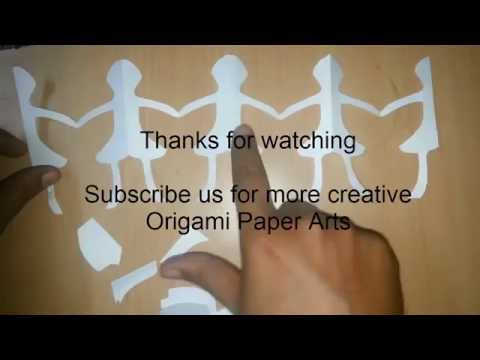 How to Make an Origami Chain of People, How to make a Paper Doll Chain