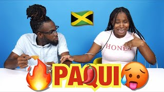 Jamaicans Try Paqui (HAUNTED GHOST PEPPER🌶)