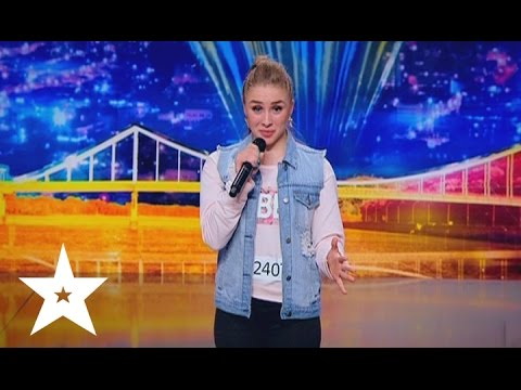 Ukrainian girl raps the part of Eminem's Rap God on Ukraine's got talent