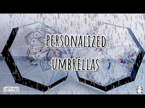 DIY: PERSONALIZED UMBRELLAS  & MANDALA DRAWING ☂ HOW TO DECORATE AN UMBRELLA. 🌈EASY GIFTS IDEAS