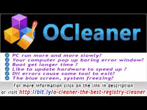 OCleaner- The best registry Cleaner