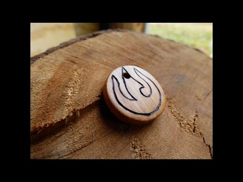 Making a Simple, Circular Wooden Keychain