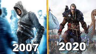 Evolution of Cover Assassin's Creed Games 2007-2020