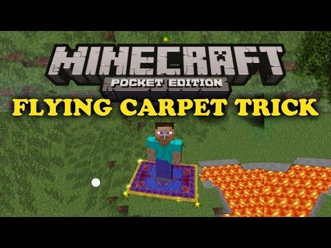 ✔ Flying Carpet Trick - Minecraft PE