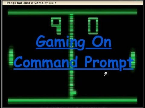 How to create video game in CMD (Command Prompt)!?