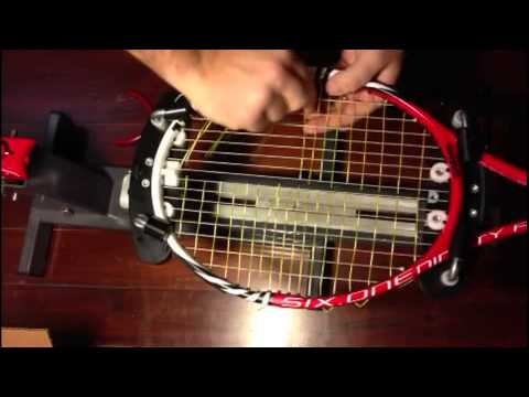 How to replace broken cross tennis string in a hybrid setup - TennisThis.com