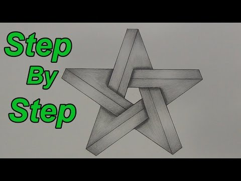 How To Draw An Impossible Star Step By Step - 3D Star - Impossible Shapes
