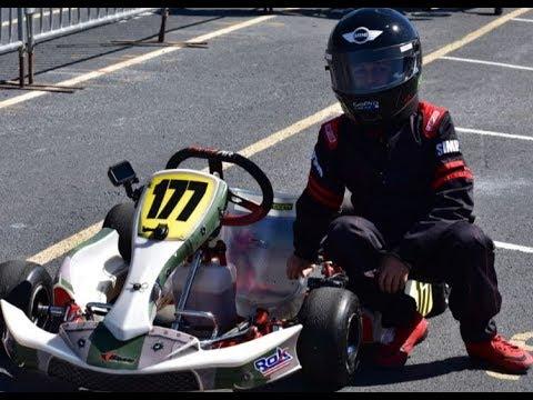Leo driving Birel Art cadet Rotax 60cc