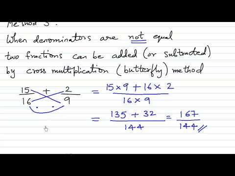Three Methods to Add and Subtract Fractions