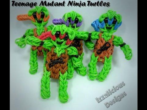 Rainbow Loom Teenage Mutant Ninja Turtles Action Figure/Charm Tutorial