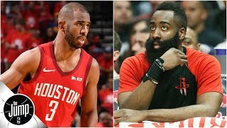 Chris Paul's numbers with James Harden on the bench were very CP3-like   The Jump
