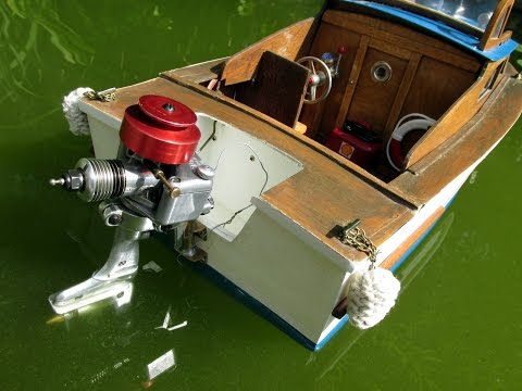 Nitro outboard engine on a RC model boat ( part III)