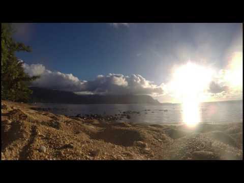 Puu Poa Beach Time Lapse Kauai Hawaii
