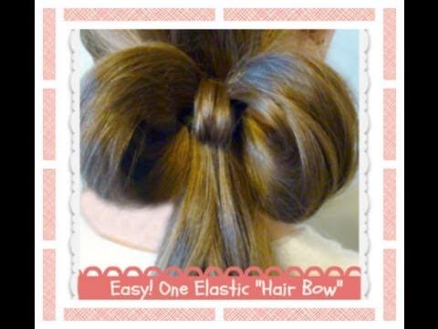 One (1) Elastic Hair Bow, Easy Hairstyles, Hair4myprincess