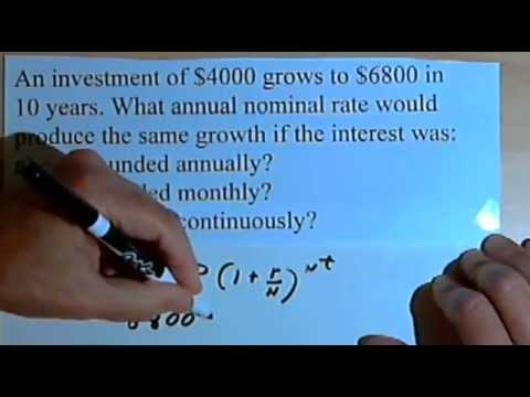 Calculating the Growth Rate of an Investment 141-30.a