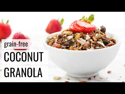 GRAIN-FREE COCONUT GRANOLA | vegan + paleo