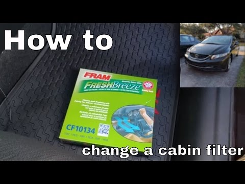 2013 Civic cabin filter change