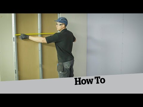 How to plasterboard a stud wall