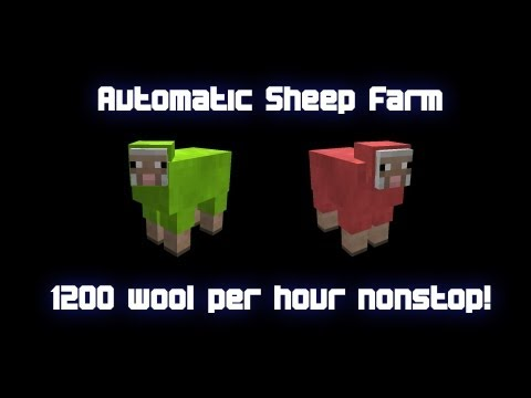 Automatic Sheep Farm - 1200 wool per hour nonstop! - Minecraft