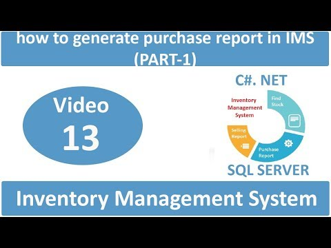 how to generate purchase report in IMS (PART-1)