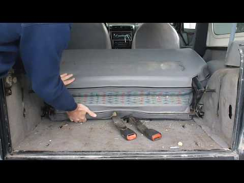 Wrangler TJ Rear Seat Removal and Spare Tire Storage
