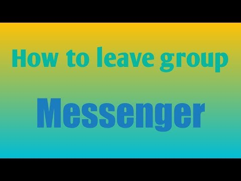 how to leave group messnger