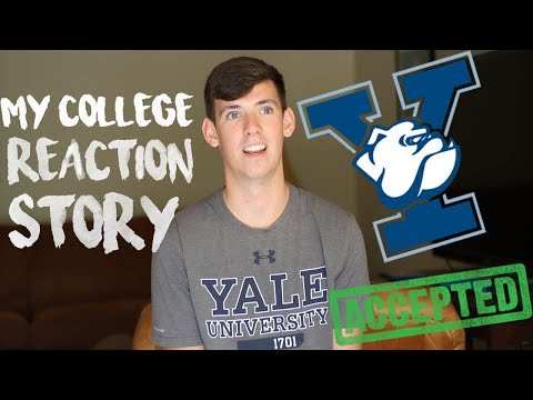 ACCEPTED TO YALE!!! // MY COLLEGE REACTION AND DECISION STORY