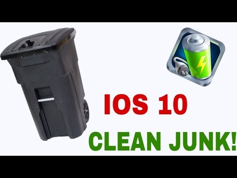 HOW TO CLEAN JUNK ON ANY APPLE DEVICE!!! IOS 10! NO COMPUTER!