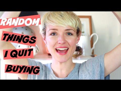 RANDOM THINGS I QUIT BUYING | Kate Arnell