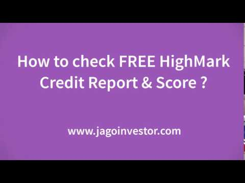 How to Check FREE highmark report and Score?