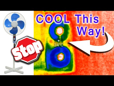 Too HOT? Cool your room.  How to Stop blowing hot Air - Natural AC with Window Fans?