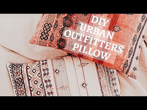 DIY No Sew Urban Outfitters Floor Pillow