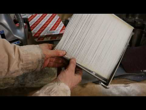 How to replace cabin air filter Toyota Camry Years 2002 to 2016