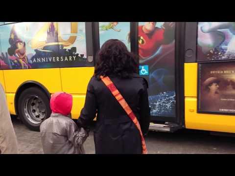 Free Disney Shuttle Bus from Disneyland Paris to Hotel - Disneyland Paris (HD)