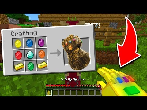 CRAFTING THE INFINITY GAUNTLET IN MINECRAFT!