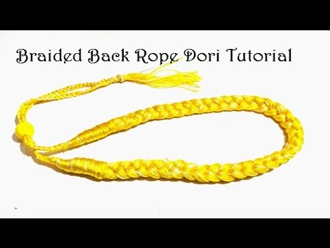 How to make Braided Dori Necklace with Back Rope at home - Easy DIY