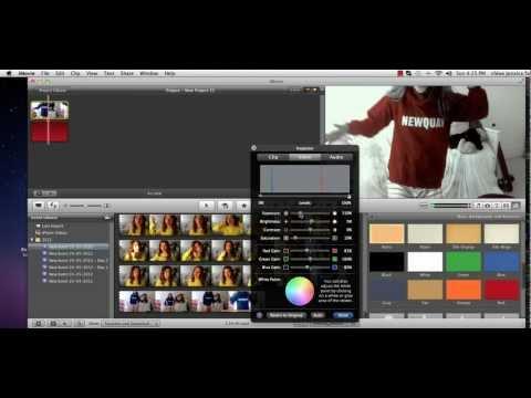 How to do color splash in imovie 11'