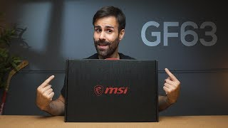 MSI GF63 Unboxing // A Light Gaming Laptop with thin Bezels! 🤑