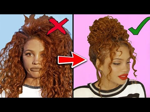 8 CURLY HAIRSTYLES FOR STUBBORN HAIR!