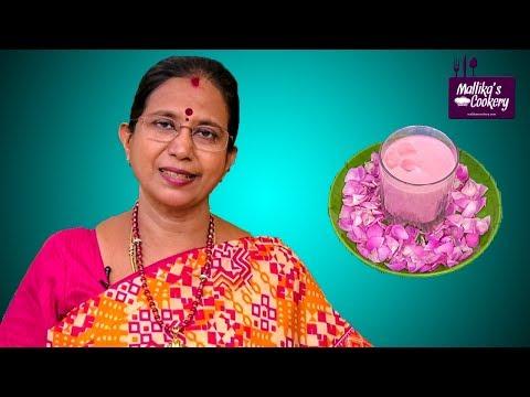 KAJU GULAB SYRUP : Mallika Badrinath Recipes | Indian Desserts