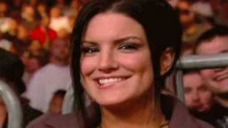 Gina Carano Lip Bite - Hot!