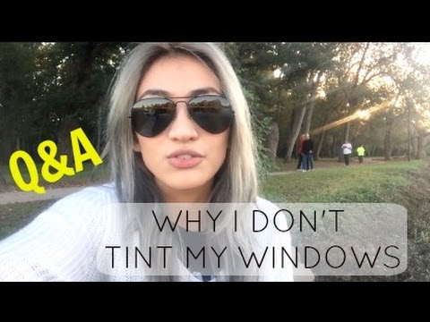 Why I Don't Tint My Windows - Living in a Car Q&A