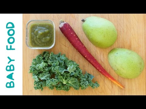 kale carrot pear baby food recipe +6M