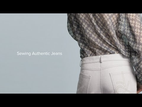 Sewing Jeans Part 10, Sew the Back and Inside Seams