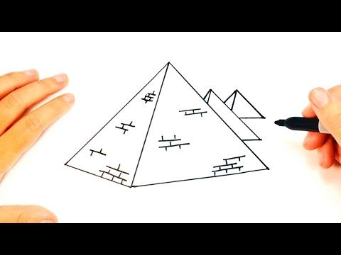 How to draw a Pyramid | Pyramid Easy Draw Tutorial