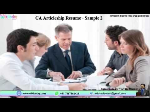CA articleship resume   Chartered Accountant (CA) Articleship Resume