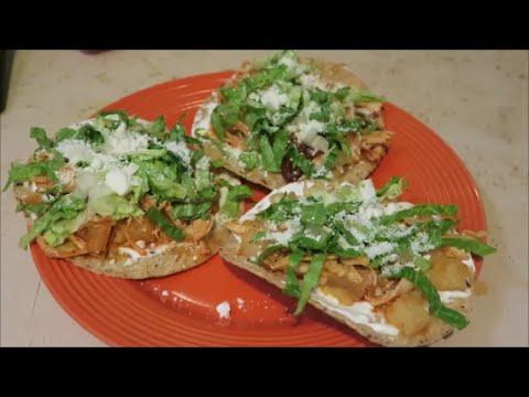 Tinga Tostadas (Mexican Dish)