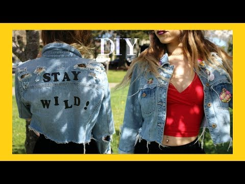 DIY Cropped Denim Jacket // Old to New Transformation!