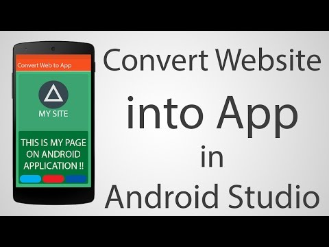 How to Convert Website into Android App - Android Studio 2.2.2 Tutorial